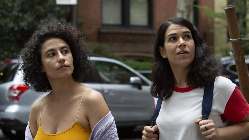 "Abbi Jacobson (right) and Ilana Glazer end five seasons of ""Broad City"" on Thursday."