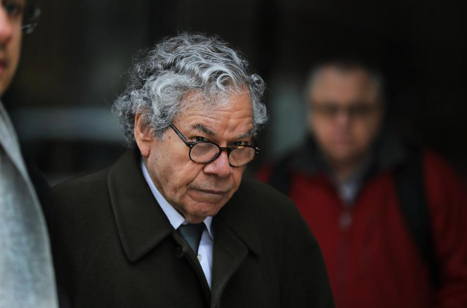 Insys Therapeutics founder John Kapoor left federal court in Boston earlier in the trial.