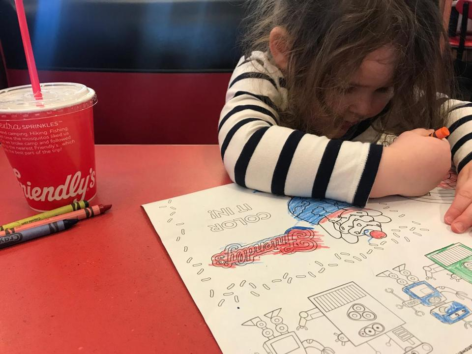 Sylvia Ramos on her first trip to Friendly's, which will probably be her dad's last. (Nestor Ramos) 13nestorfriendly