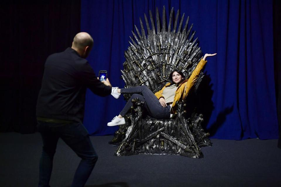 Fans can take photos with the Iron Throne in Boston this week.