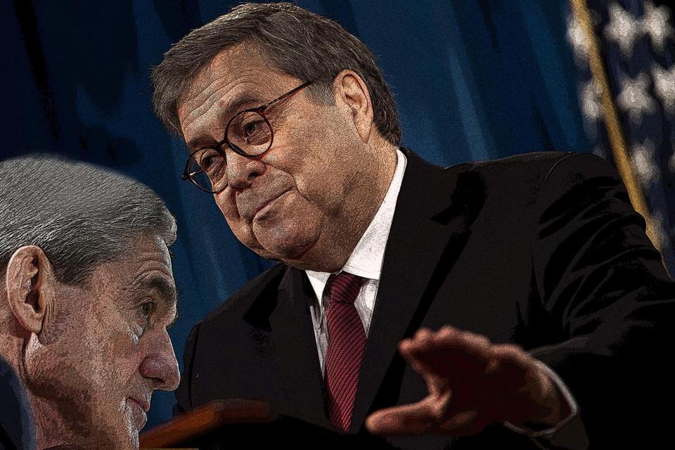 The legal dispute between William Barr and Robert Mueller