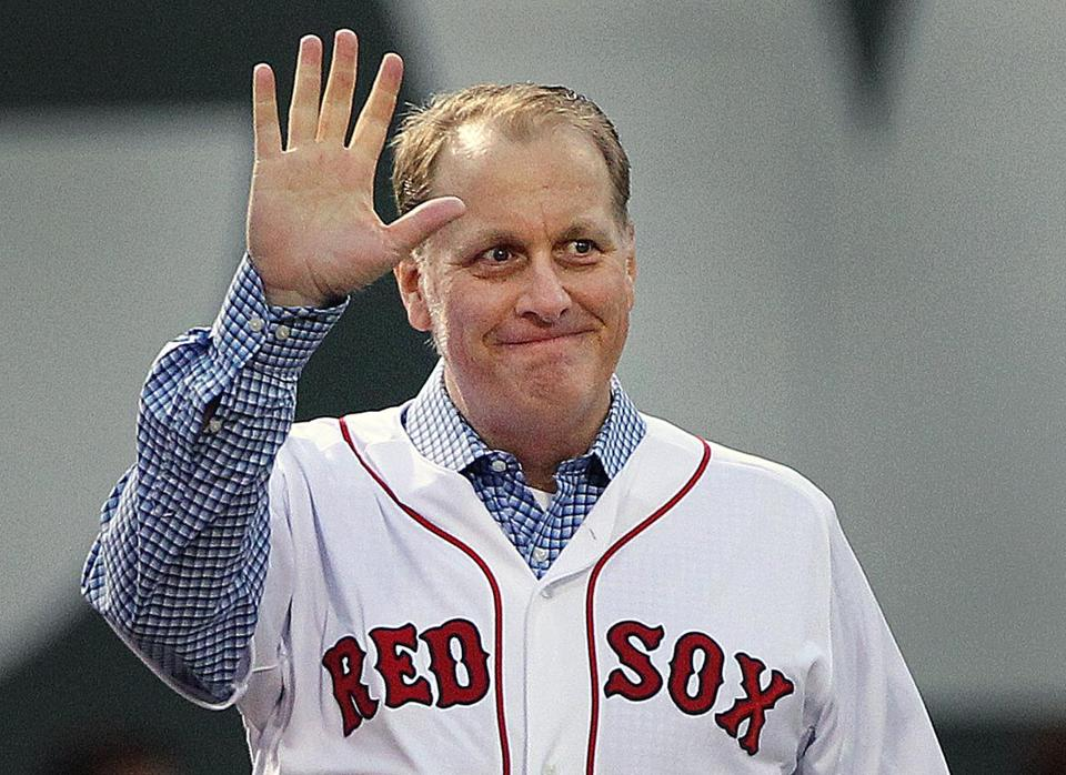 Curt Schilling took part in a ceremony in May to honor the 2004 Red Sox World Series championship team at Fenway Park.