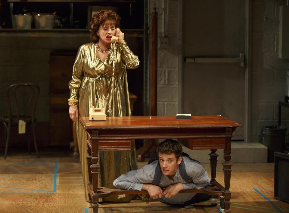"Patti Lupone (left) and Michael Urie in a scene from Douglas Carter Beane's ""Shows for Days"" in New York."
