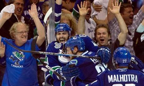 The Canucks seized the momentum back in Game 5, when they returned home for a 1-0 win powered by a third-period goal by Lapierre.
