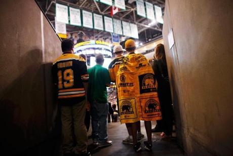 Bruins fans packed the TD Garden for the final series game in Boston.