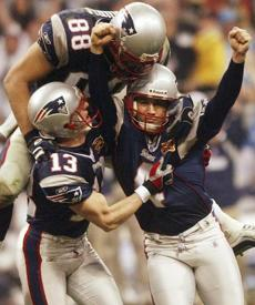 It was the second time in three seasons that Vinatieri had won a Super Bowl with a field goal in the final seconds.