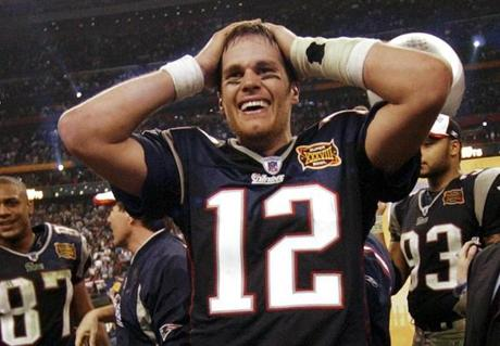 Brady and the Patriots went 14-2 in the regular season and finished the Super Bowl with 15 consecutive wins.