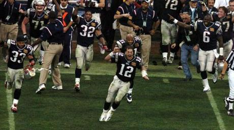 A jubilant Brady ran onto the field after the final horn after joining an elite club of quarterbacks with multiple Super Bowl victories.