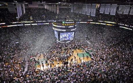 The Celtics celebrated a championship for the first time in 22 years.