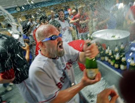 For the second time in his young career, Youkilis celebrated a championship.
