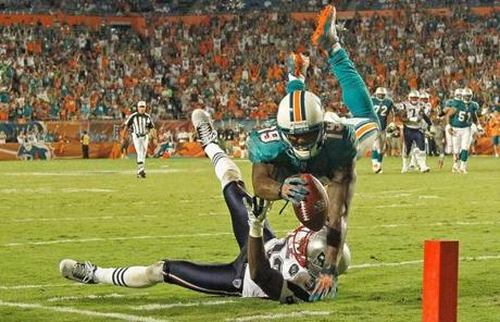 Brandon Marshall and the Dolphins still managed to accumulate 488 total yards against the Patriots defense.
