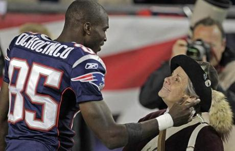 After the win, Chad Ochocinco shared a moment with a member of the