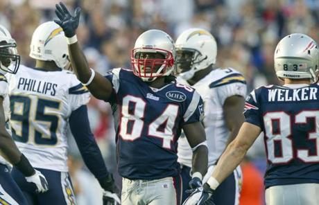 Deion Branch had a team-high eight catches for 129 yards.