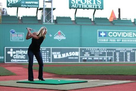 Heidi Watney, NESN personality, at the