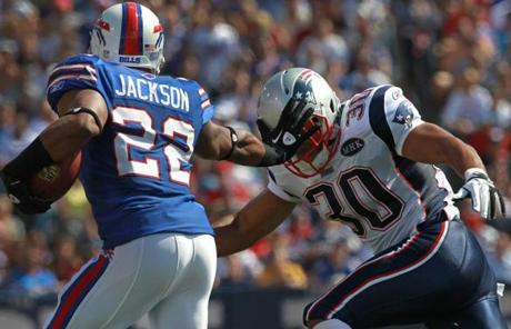 Fred Jackson torched the Patriots for 161 yards from scrimmage and a touchdown.