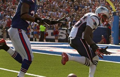 Chad Ochocinco dropped a likely touchdown near the goal line during the fourth quarter.