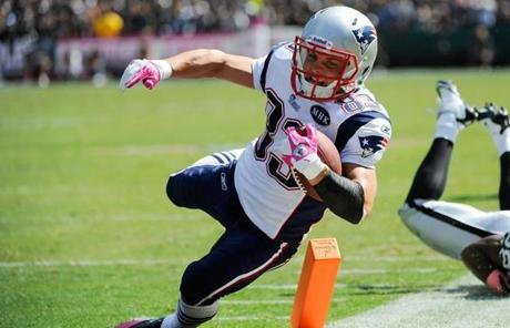 Wes Welker had another standout performance with nine catches for 158 yards and a touchdown.