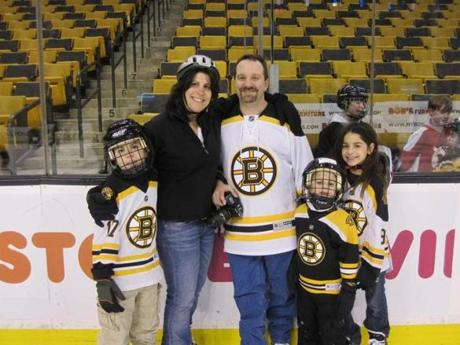 Dr. Neil Denbow and his family enjoyed an afternoon of skating at the TD Garden.