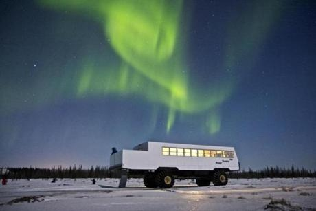 for Travel - 06chiillroundup - Ride a tundra buggy to see nature's greatest light show on Frontiers North's northern lights excursions to Churchill, Manitoba. (John Gunter Photo/Frontiers North)