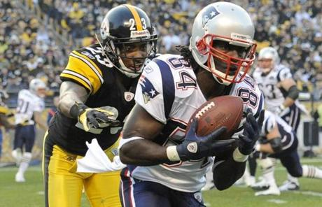 The Patriots were able to cut the Steelers' lead to 23-17 late in the fourth quarter.