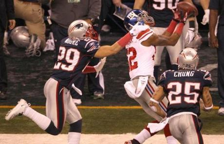 Giants wide receiver Mario Manningham made a key catch in New York's game-winning fourth-quarter drive.