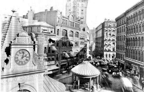 The city decided to demolish the neighborhood known as Scollay Square (pictured in 1906) and build in its place what would come to be called Government Center.