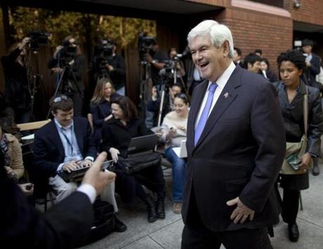 NEWT GINGRICH: A $7 million fortune, with an up to $1 million revolving line of credit at Tiffany.
