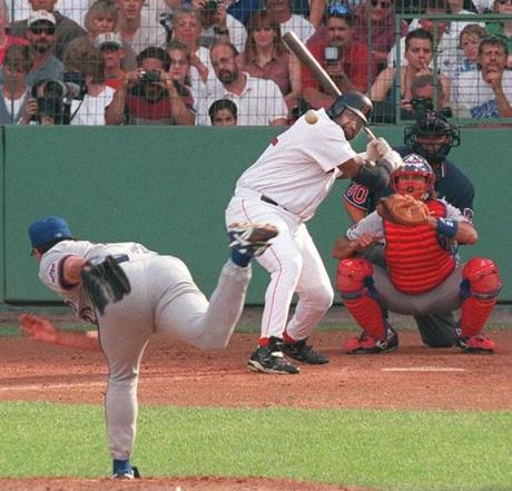 Clemens struck out old teammate Mo Vaughn three times during the game.