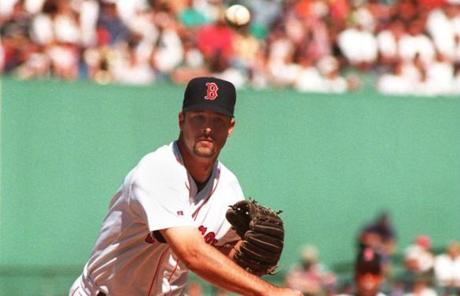 Wakefield arrived in Boston in 1995, when he posted a 16-8 record.