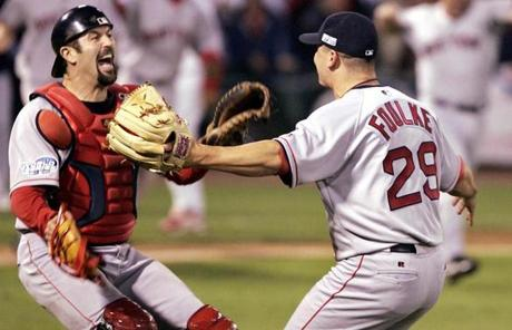 Seven days later, he and Keith Foulke celebrated the Red Sox' first World Series win in 86 years.