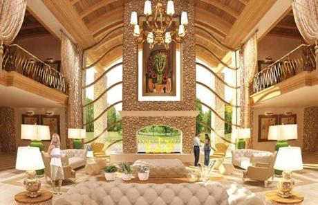 A rendering, provided by Wynn Resorts, of the interior of the proposed casino.