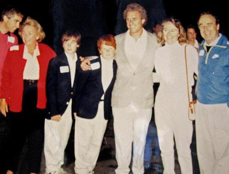 A campaign event, with (from left) Max Kennedy, Ethel Kennedy, Matt, Joe III, Joe Kennedy II, Suzanne Knight, Phil Johnston.
