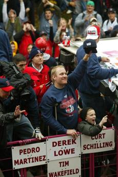 Curt Schilling and his teammates revelled in the adoration thrust upon them.
