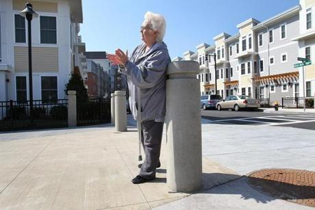 South Boston, MA., 03/20/12, The Homes at Old Colony had a ribbon cutting and grand opening ceremony today. Anne Clancy, cq, a life-long resident of Boston public housing, just moved into a new unit