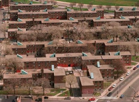 South Boston...OLD COLONY PROJECT aerial