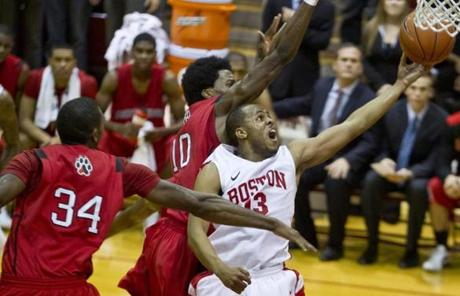 BU's Case Gymnasium has played host to many contests with neighboring rival Northeastern.
