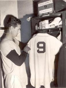 Ted Williams hung up his jersey for the final time before rejoining the U.S. Marine Corps on April 30, 1952.