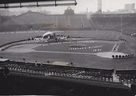 Fenway Park had a different look on Aug. 17, 1960, when the national convention of Jehovah's Witnesses converged on the park.