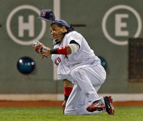 Manny Ramirez went to the ground to rob Asdrubal Cabrera of a hit during the 2007 ALCS.