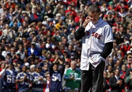 The Red Sox welcomed Bill Buckner back to Fenway Park for the 2008 home opener. He threw out the first pitch.