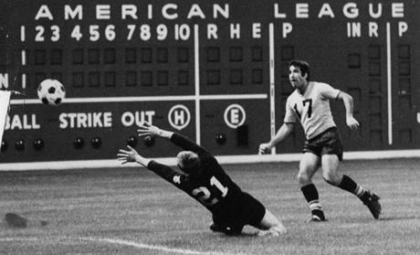 Fenway Park served as the home to the Boston Beacons professional soccer team in 1968.