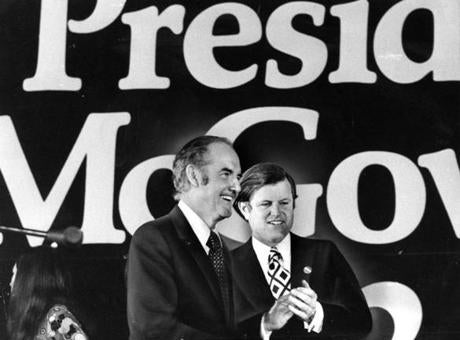 Senators George McGovern and Edward M. Kennedy.
