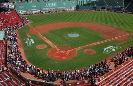 The Red Sox welcomed fans into the park as part of the celebration for Fenway Park's centennial.