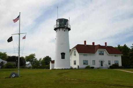 The present day exterior of the Chatham Lighthouse.