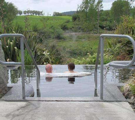 The Waikite Valley Thermal Pools are filled from the Te Manaroa boiling spring.