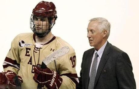 His former coach at BC, Jerry York, has been impressed with Kreider's poise in the