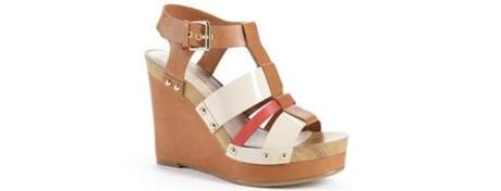 <b>LIVE THE HIGH LIFE</b>: These summer sandals soar, but the platform makes them comfortable for the office and playdates. The Lizette Almond Combo platform by Arturo Chiang, $79.99, <a href=