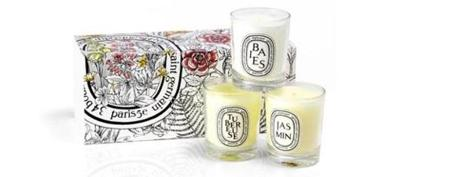 <b>REST AND RELAXATION</b>: Everything's better by candlelight, especially when those candles are gloriously scented wonders in a coffret from Diptyque. $84, at Nordstrom, <a href=