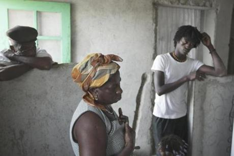 Matilde Silva struggles to pay school fees for her son Admilson Almeida Menezes. High school is not free in Cape Verde.