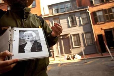 McNabb showed a picture of Prince Hall, founder of the Prince Hall Masons, in front of the George Middleton House in Beacon Hill.